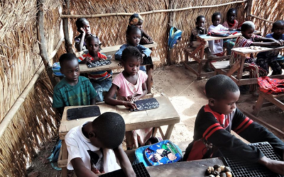This is what happens in the School for the blind in Missala, Mali